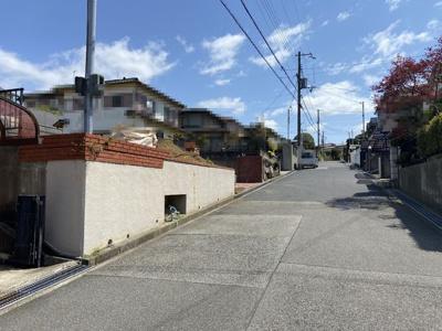 【前面道路含む現地写真】■成約済■神戸市垂水区本多聞6丁目 1号棟 新築戸建