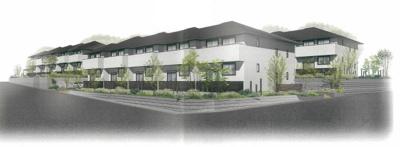※外観パース※2021年9月完成予定!ペットOK♪小田急線「黒川」駅より徒歩6分♪人気のミサワホーム施工の新築2階建てアパートです♪