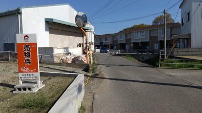 【前面道路含む現地写真】徳島市論田町元開 土地