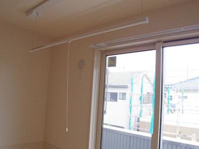 室内物干しはとても便利です!