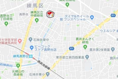 【地図】レオパレスユートピアコート(42984-401)