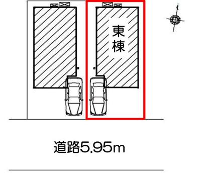 【区画図】静岡市葵区新富町2丁目 新築一戸建て 東棟 FF