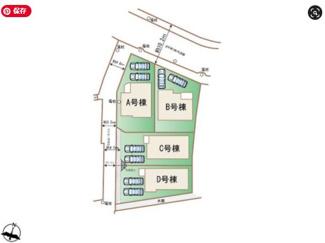 【区画図】沖縄市住吉2丁目ハートフルタウンA号棟