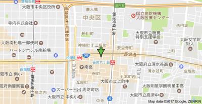 【地図】パレダイト谷町