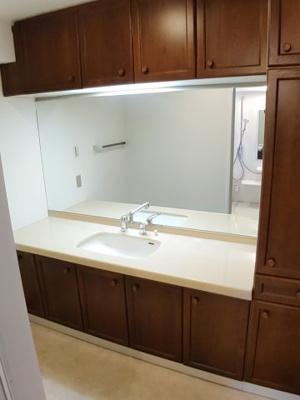 収納力豊富な洗面化粧台