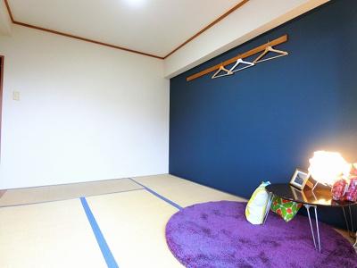 天袋付き押入れのある南東向き和室6帖のお部屋です!寝具をすっきり収納できるので和室は寝室にもオススメ☆※参考写真※