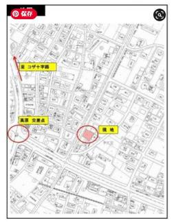【地図】沖縄市大里全2号棟 1号棟