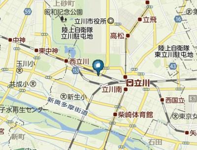 【地図】WY立川(ダブルワイタチカワ)