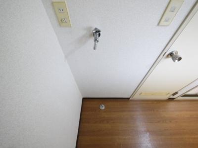 洗濯機置場も室内です