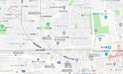 【地図】アーベインテラス練馬