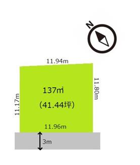 【区画図】船橋市豊富町 土地 北習志野駅