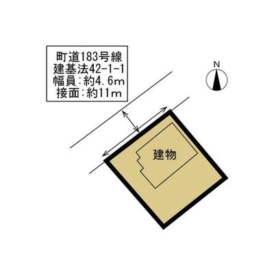 【区画図】中巨摩郡昭和町西条新田 中古住宅