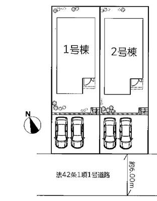 【区画図】神戸市垂水区本多聞6丁目 新築戸建