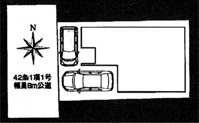 【区画図】城陽市第5寺田今堀 新築戸建