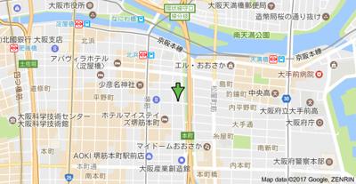 【地図】アクティ北浜