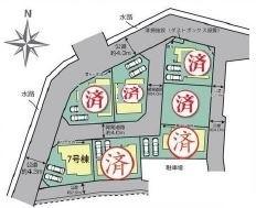 【区画図】西区三橋6丁目