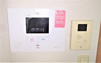 ホームセキュリティー・モニター付きインターホンあり