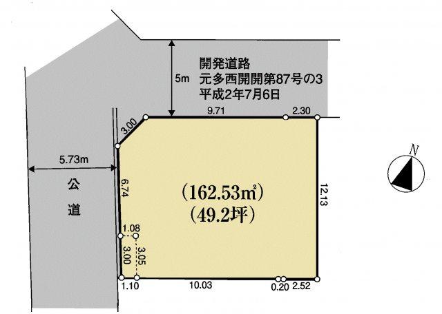 【区画図】武蔵村山市大南4丁目 土地全1区画
