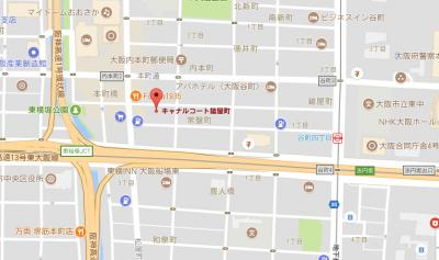 【地図】キャナルコート鎗屋町