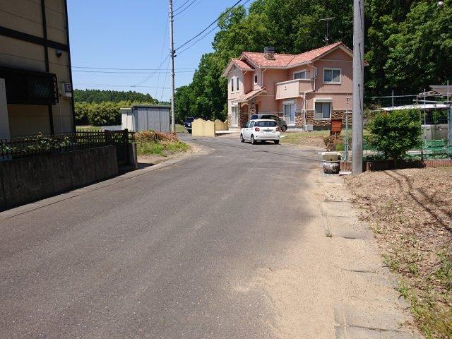 【前面道路含む現地写真】城里町那珂西土地