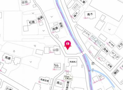 【地図】安良岡町売地