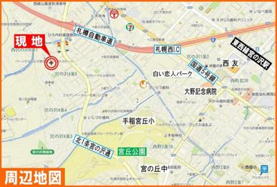 【地図】パーソナルヒルズ宮の沢セカンドステージ