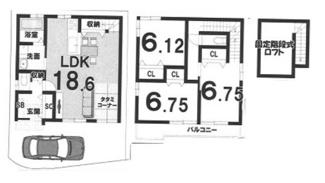建物参考プラン延床面積:91.12平米