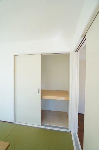 1階和室押入 座布団やお布団、お子様のおもちゃなど収納できます。