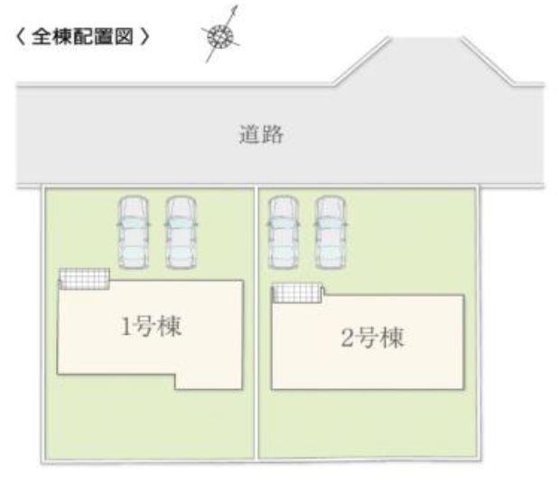 2号棟 カースペース2台以上可能です。