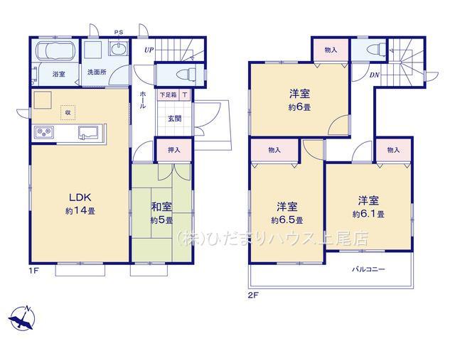 上尾市瓦葺 第6 新築一戸建て ハートフルタウン 01