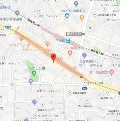 【地図】シーネクス赤塚駅前