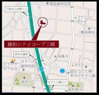 案内図::三郷新築ナビで検索♪