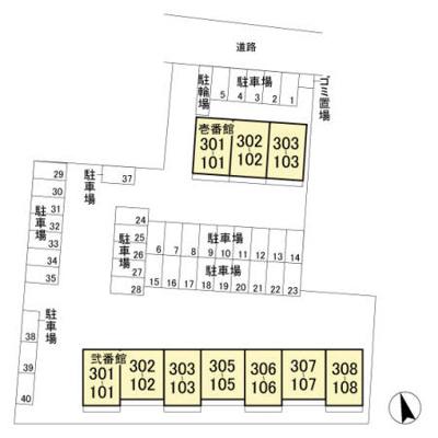 【区画図】コーワレジデンス 弐番館
