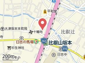 【地図】坂本7貸家 Y邸