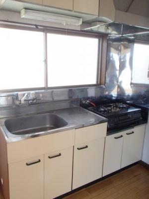 キッチン(ガスコンロ新品)
