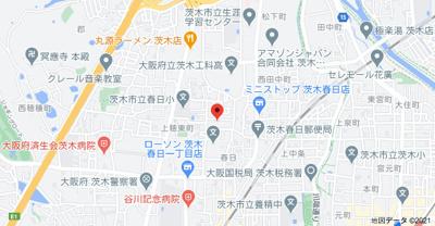 【地図】ハイツオリオン
