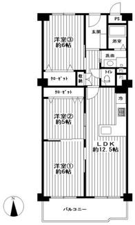 物件価格1,298万円(税込)値下げしました。 7階建ての5階部分、南向き3LDK