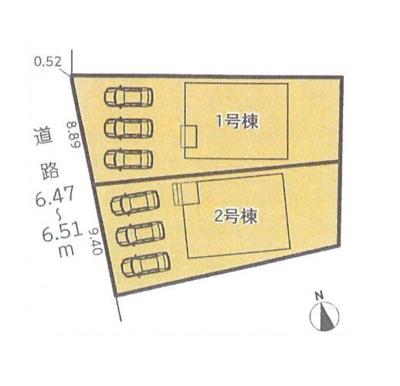 【区画図】中川区前田西町第2 2号棟<仲介手数料無料>長須賀小学校・助光中学校 新築一戸建て