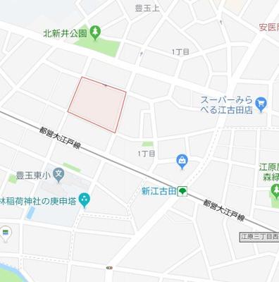 【地図】AZEST新江古田