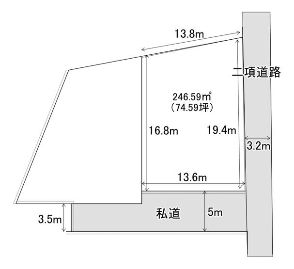 【土地図】河崎売り土地