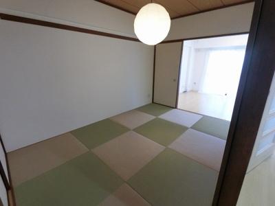 6.0帖の和室です。