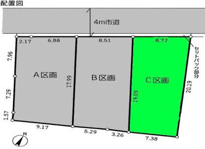 【区画図】桶川市東 売地