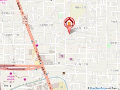 【地図】ベイサージュ・22B