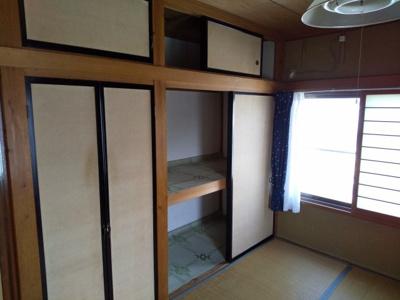 2階和室6帖です。収納も充実です。