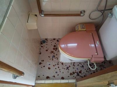 トイレです。手すりも取り付けられ安心してお使いいただけます。