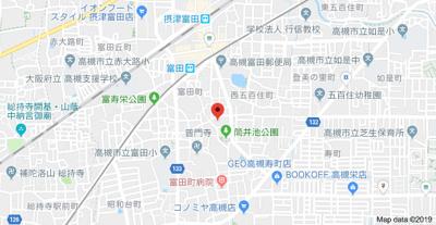 【地図】摂津ハイツ