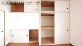 賃貸のデメリットである収納スペースがないことが解消されます。