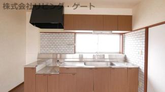 広めのキッチンです。料理もしやすいですね!