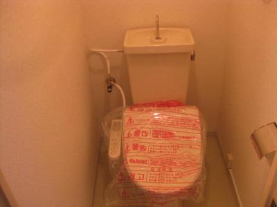 洗浄付温水便座を新設します