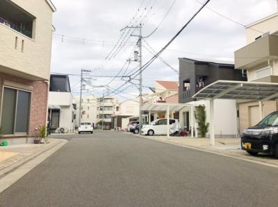 新築が立ち並ぶ街並みはとてもきれいです♪